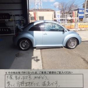 鎌倉市Y様よりフォルクスワーゲンニュービートルのタイヤ交換を承りました