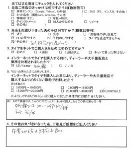 横浜市瀬谷区U様よりアウディTTのタイヤ交換を承りました