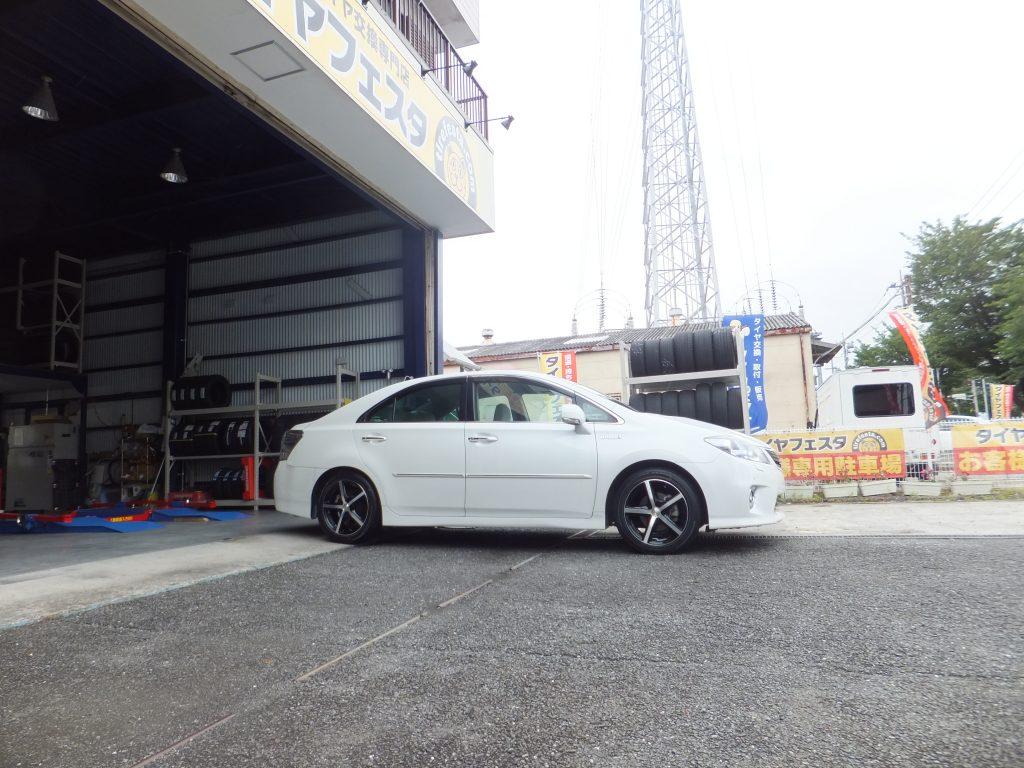 横浜市金沢区 I様より、トヨタSAIのタイヤ交換を承りました