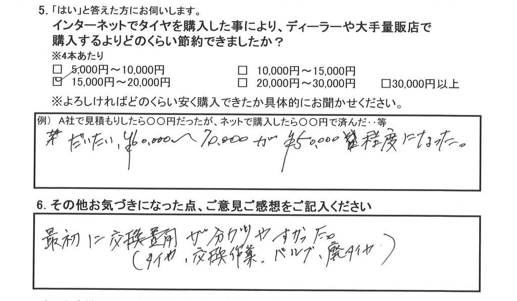 20160417遊佐利夫様アンケート