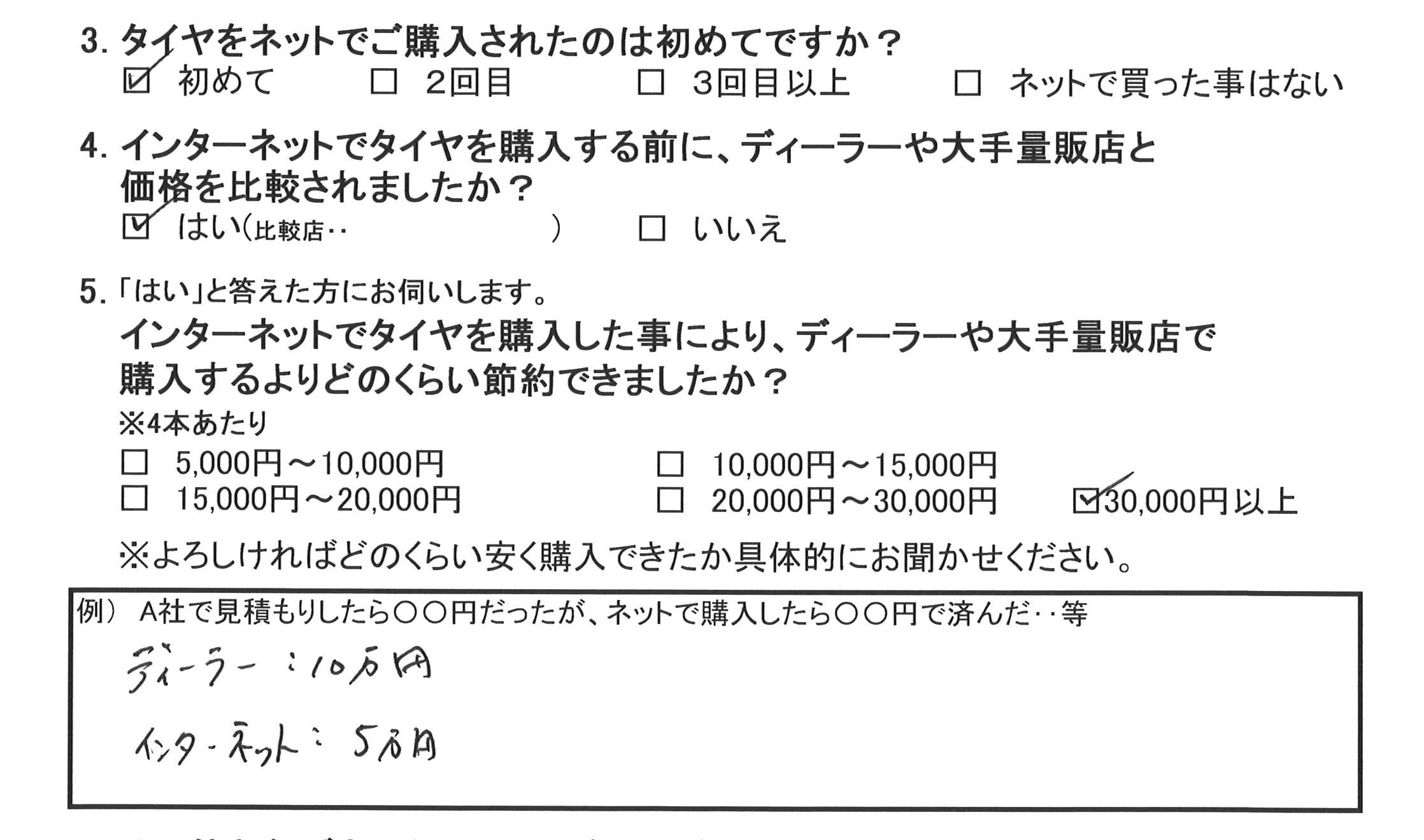 20160429斎藤カズヤ様アンケート
