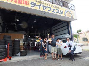 2回目のご利用の横浜市緑区T様、レクサスIS3000のタイヤ交換を承りました