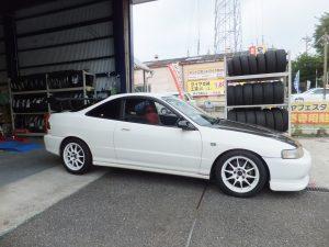 ホンダインテグラの横浜市K 様より、タイヤ交換を承りました。