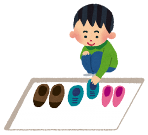 靴を並べる 小松ピットスタッフ タイヤフェスタ ベテランピットスタッフ
