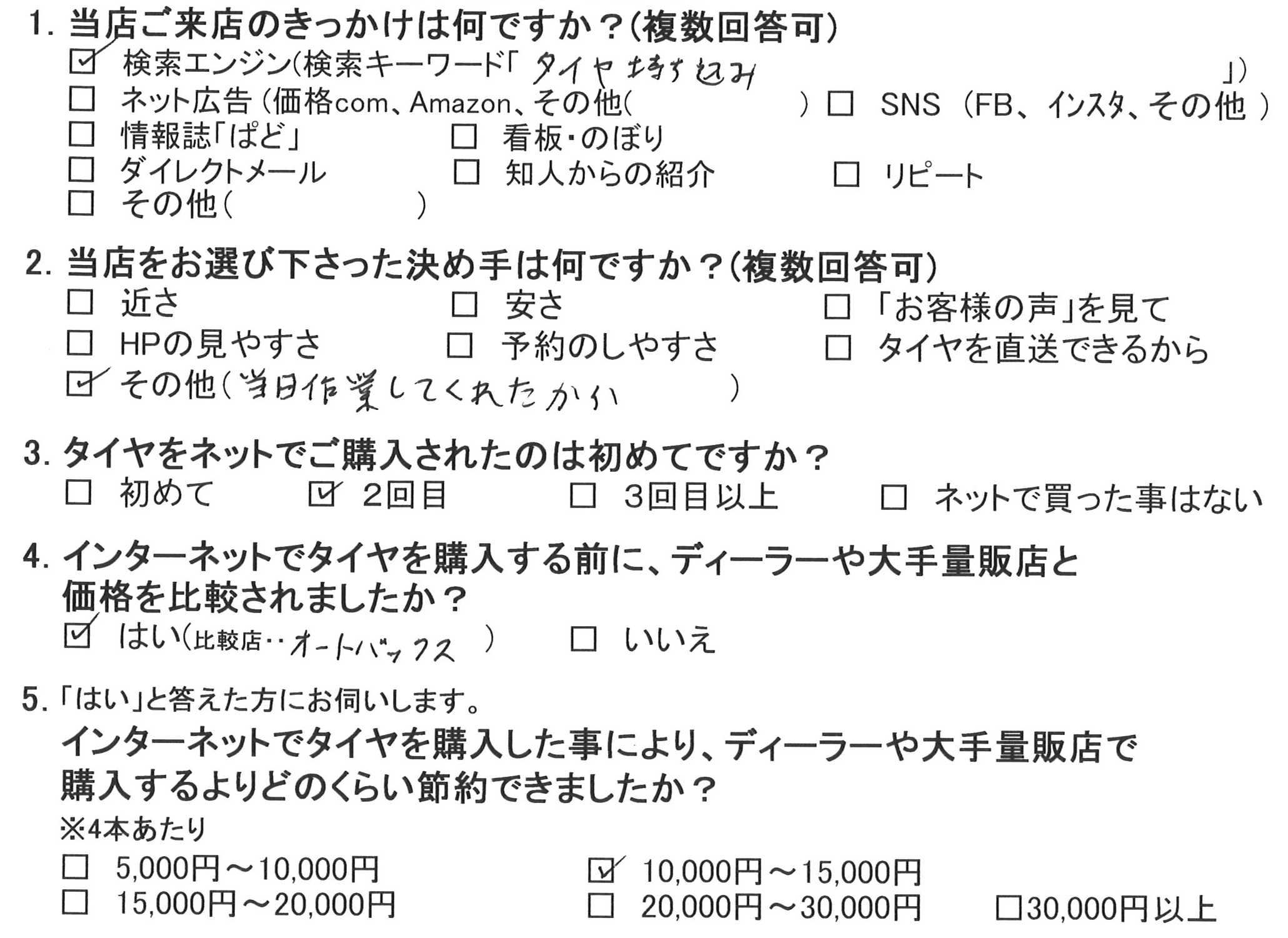 藤沢市H様 三菱コルトのタイヤ交換を承りました!