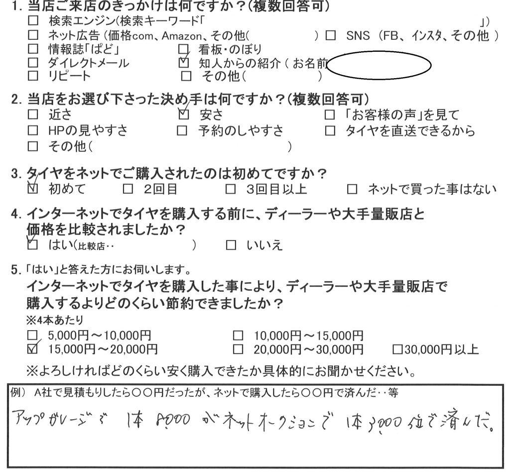 横浜市南区M様パジェロミニ 約1万5千円の節約!広がるご紹介の輪♪