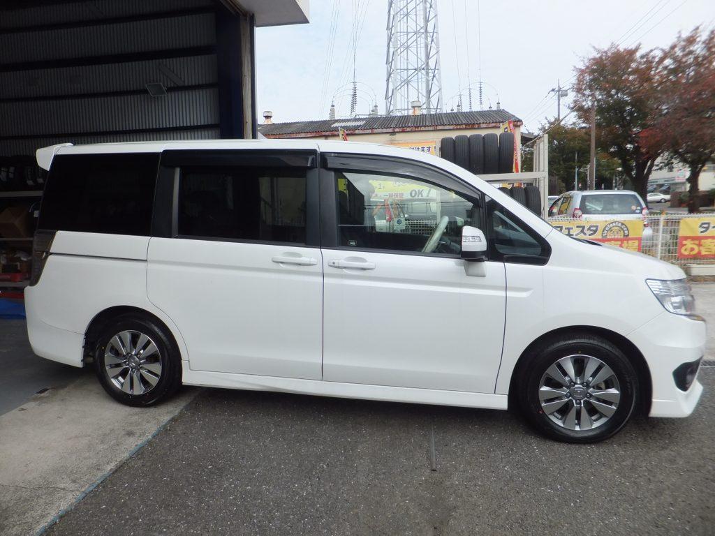 大和市S様ホンダステップワゴンのタイヤ交換を承りました!