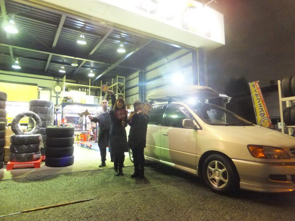 大和市K様トヨタイプサムのタイヤ交換「アジアンタイヤがネットで安く手に入りました」