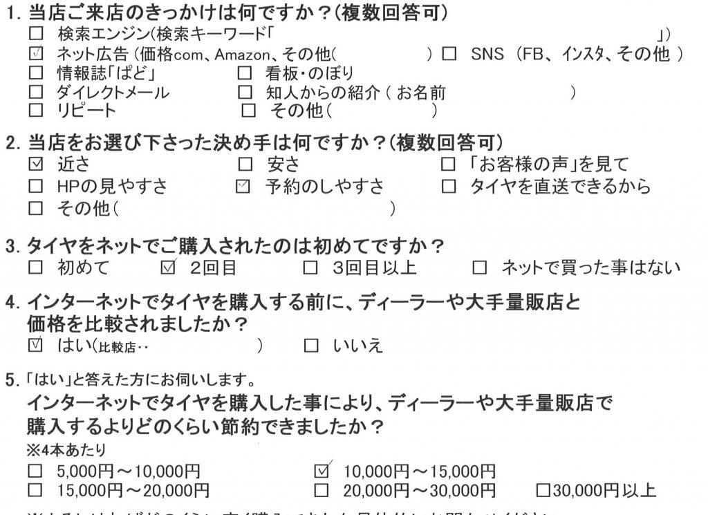 綾瀬市M様ダイハツミラココアのタイヤ交換を承りました!
