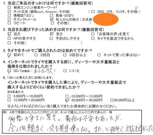 横須賀市A様 ホンダフィット 込み込みセットで約3万円のお得♪「価格に安さに驚き」