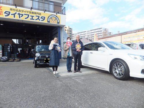 大好評♪プレミアム会員 平塚市T様ご夫婦で1台ずつご入会!!スタッフとパチリ♪