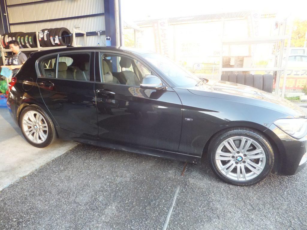 泉区M様 BMWタイヤ2本交換「近いうちに後輪のタイヤの交換もお願いしたいです」