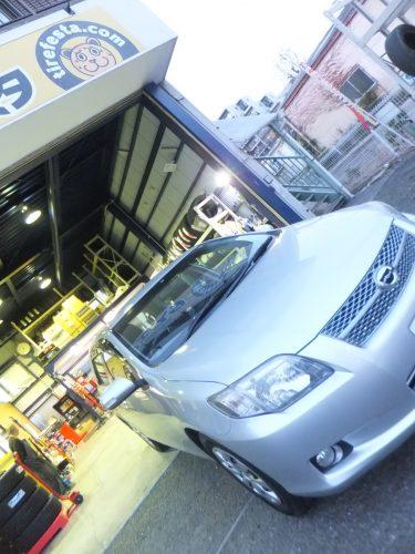 八王子市K様 込み込みセットでトヨタカローラフィールダーのタイヤ交換を承りました。
