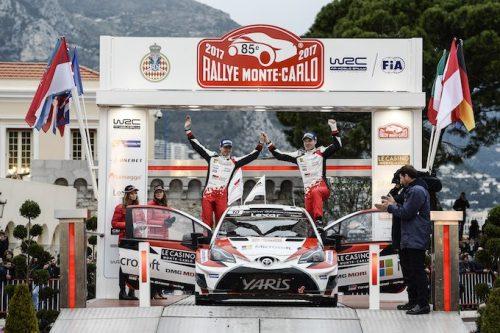 トヨタ、WRC復帰♪初戦2位(^_^)/おめでとう♪