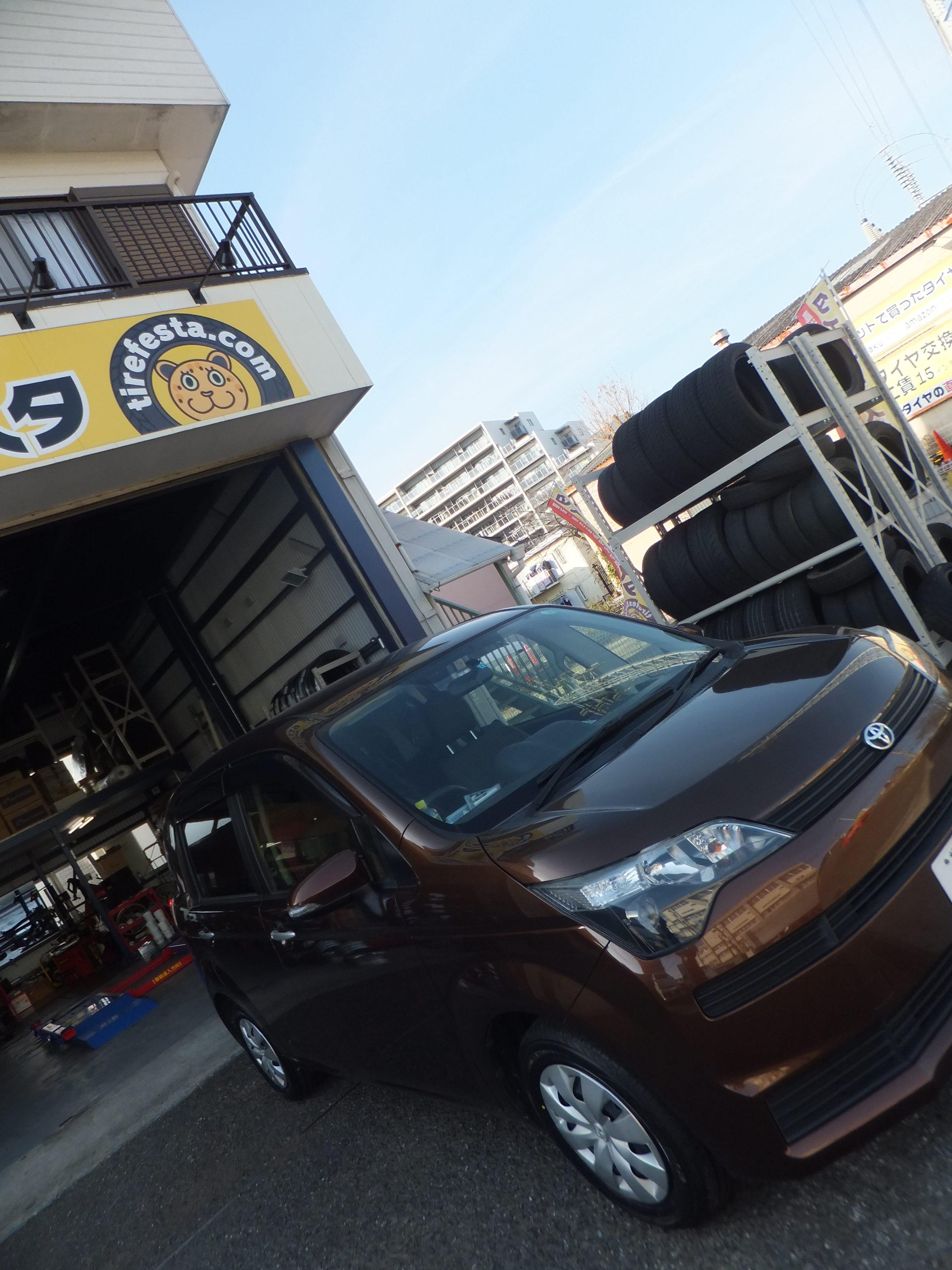 座間市I様 トヨタスペイド タイヤ4本交換「タイヤが安くていいものを購入できてありがたいです」