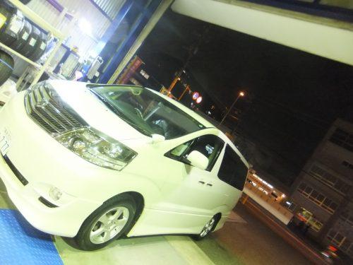 横浜市港南区F様 トヨタアルファードのタイヤ交換を承りました。