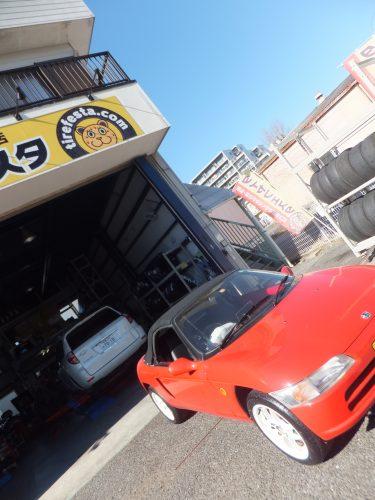 大和市W様 ホンダビート「タイヤが届いた時点で連絡があり、すぐに予約できて良かった」