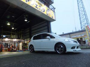 大和市 F 様より、日産ティーダのタイヤ交換を承りました。