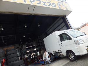 ハイゼットの大和市T様より、タイヤ交換を承りました。