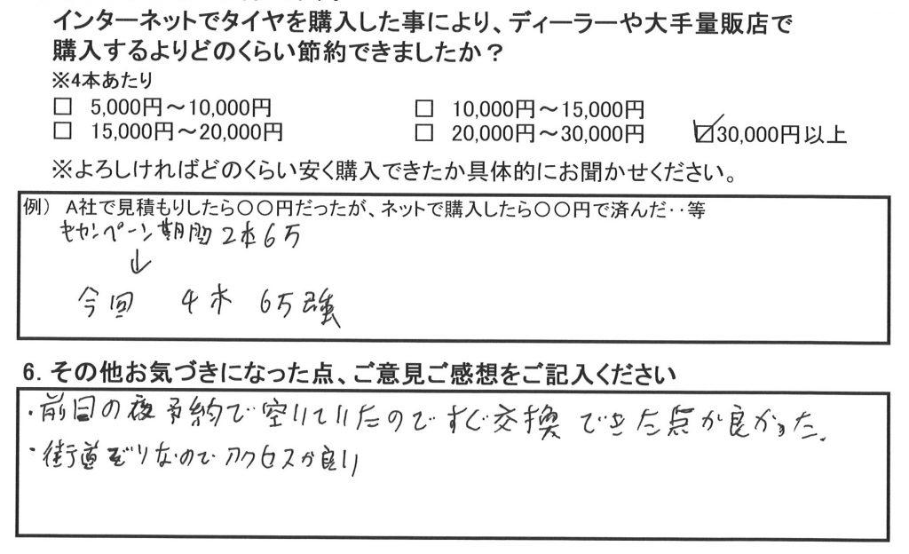 お得な事例*スバル インプレッサ225/45R17 タイヤ2本の予算で4本!!