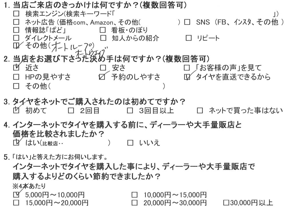 大和市C様 三菱コルトプラスのタイヤ交換を承りました!