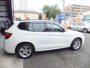 横浜市保土ヶ谷区K様 BMW X3のタイヤ交換を承りました!