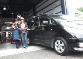 横浜市泉区S様 トヨタエスティマのタイヤ交換を承りました!