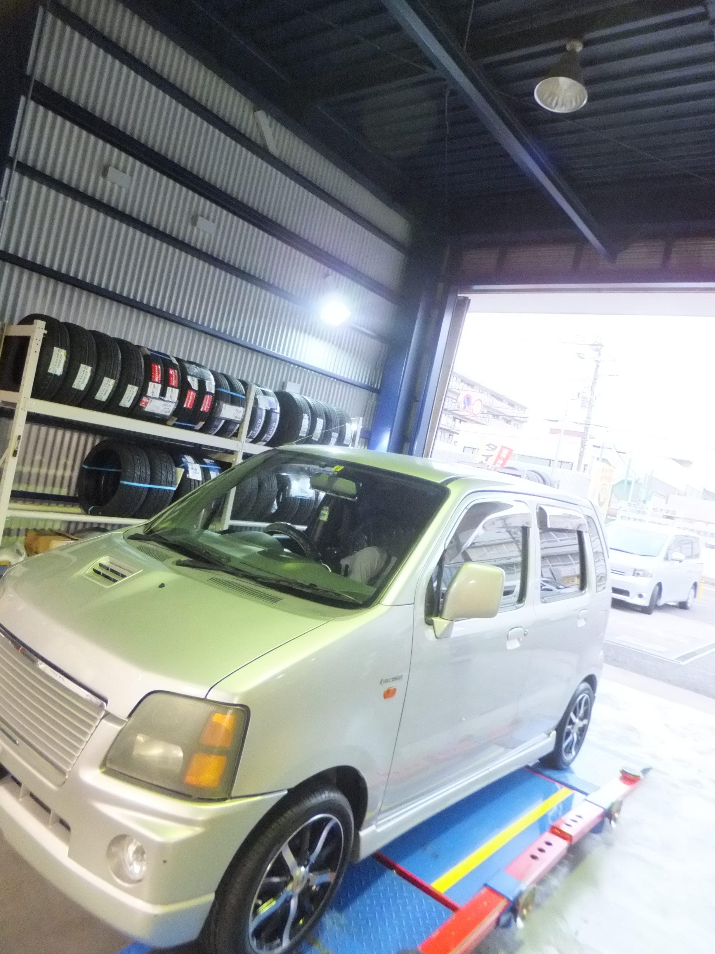 大和市M様 スズキワゴンRのタイヤ交換を承りました!