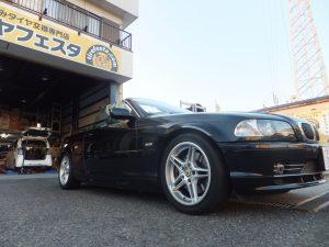 横浜市泉区T様 BMW オープンカーのタイヤ交換