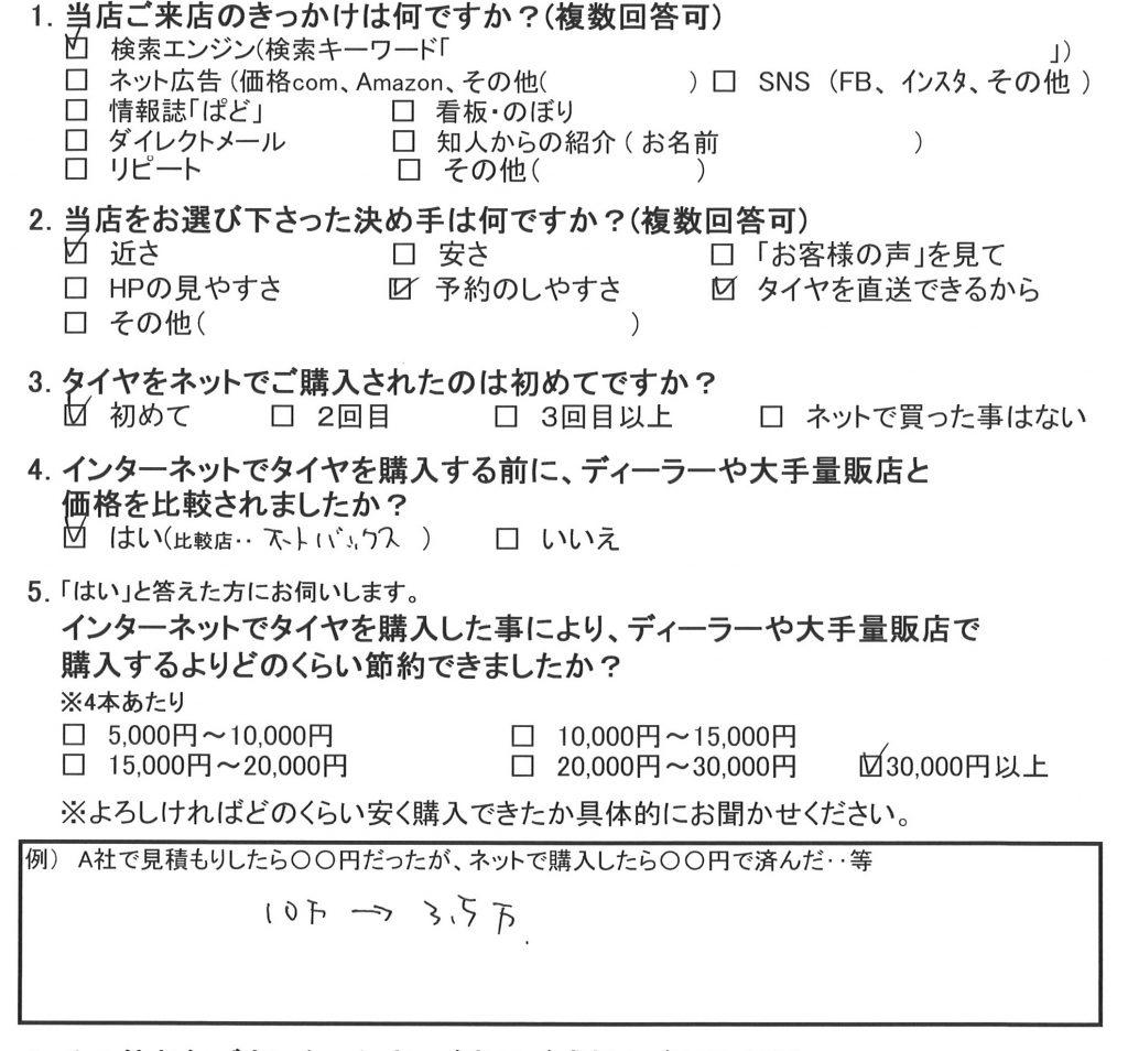 座間市M様S660のタイヤ交換 3万円以上の節約!!