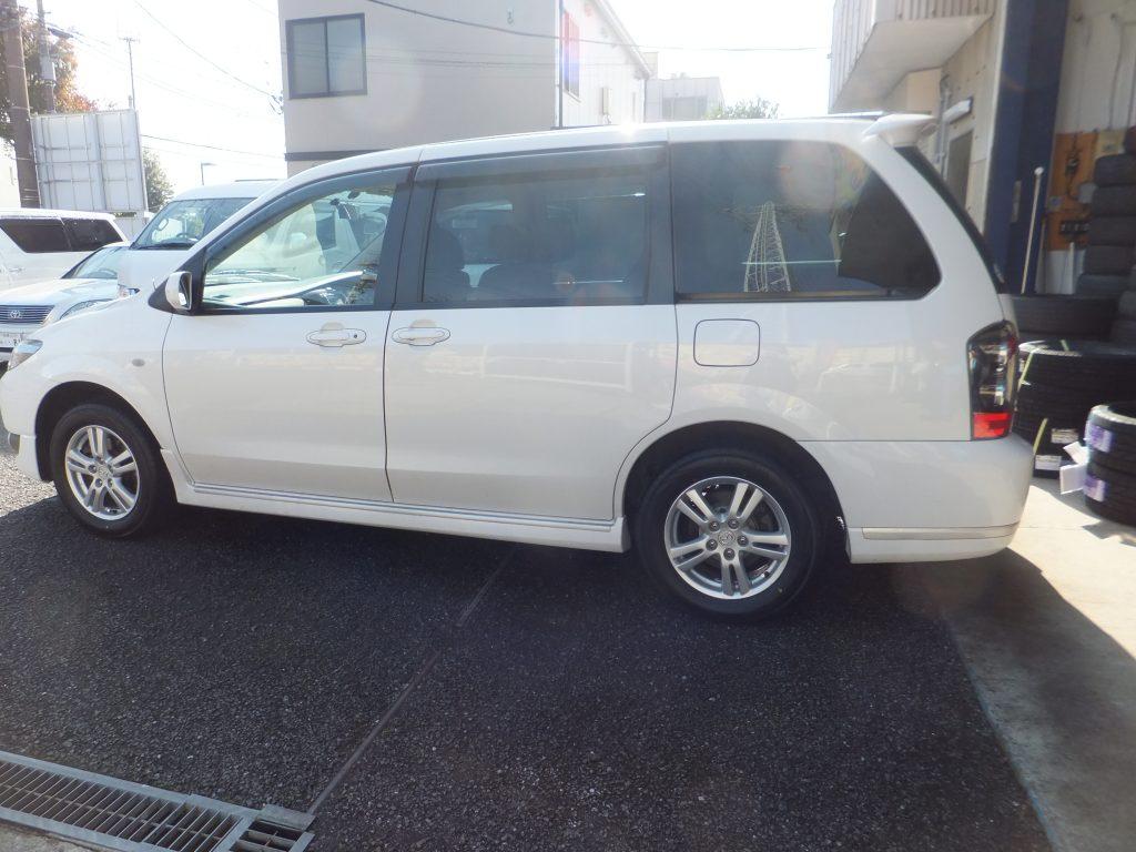 大和市F様マツダMPVのタイヤ4本交換を承りました!