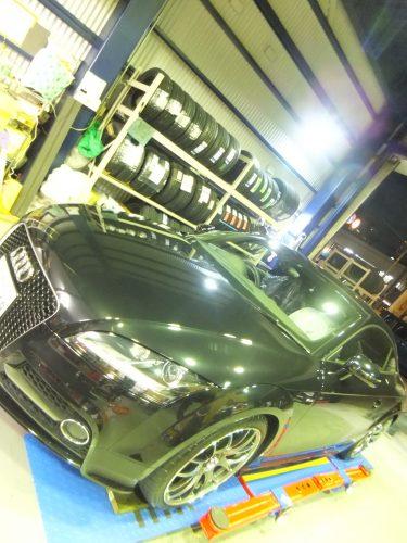 大和市A様 アウディのホイール付きタイヤ交換を承りました。