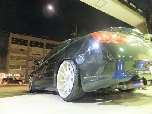 横浜市戸塚区W様 日産スカイラインのタイヤ交換を承りました。