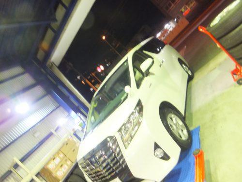 世田谷区K様 、アルファードのタイヤ交換を承りました。