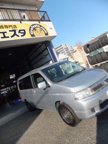 大和市K様 ホンダステップワゴンのタイヤ交換を承りました。