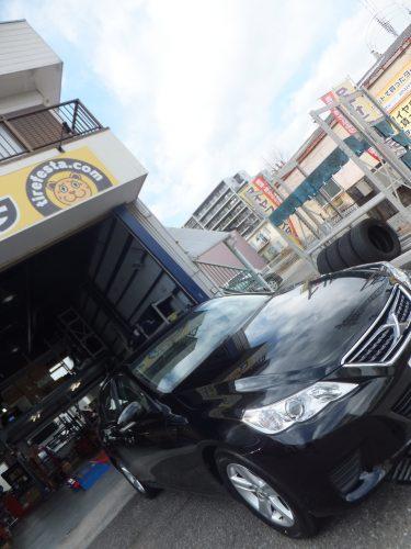 横浜市戸塚区T様 トヨタマークXのタイヤ交換を承りました。