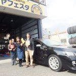 横浜市瀬谷区T様 スバルWRXのタイヤ交換で10万円以上のお得!!スタッフとパチリ♪