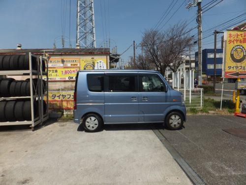 横浜市K様 スズキエブリワゴンのタイヤ交換を承りました。