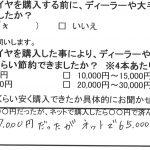 綾瀬市Y様 エスティマのタイヤ交換で約6万円のお得!!