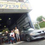 藤沢市M様 三菱ランサー エボリューションMRのタイヤ交換でスタッフとパチリ♪