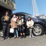 横浜市瀬谷区Y様 ステップワゴンのタイヤ交換でお車とパチリ♪