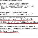 2回目のご利用♪横浜市瀬谷区T様 ホンダアクティ「知り合いに聞き、タイヤショップの半額になったので大変助かった!!」
