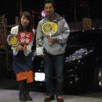 広がるご紹介の輪♪横浜市戸塚区T様 日産リーフのタイヤ交換でスタッフとパチリ♪
