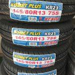 オープン記念特価タイヤ込み込みセット♪ケンダKR23 145/80R134本セット
