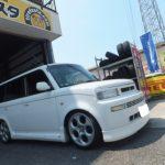 大和市K様 トヨタbB ネットでタイヤを買って3万円以上の節約♪「近くにあって大変便利♪」