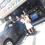 藤沢市K様 トヨタノアのタイヤ交換でスタッフとパチリ♪
