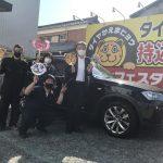 湘南平塚店♪リピーターの茅ヶ崎市 S様 BMW X3のタイヤ交換♪スタッフとパチリもご一緒に!「『また頼みます』と嬉しいお言葉も!