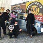 湘南平塚店♪厚木市 T様 スズキ ワゴンRのタイヤ交換♪スタッフとパチリもご一緒に!ネットでタイヤを買って1万円~1.5万円の節約!